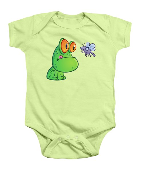 Frog And Dragonfly Baby Onesie