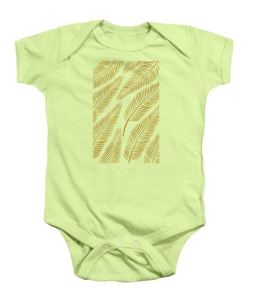 Golden Palm Baby Onesie