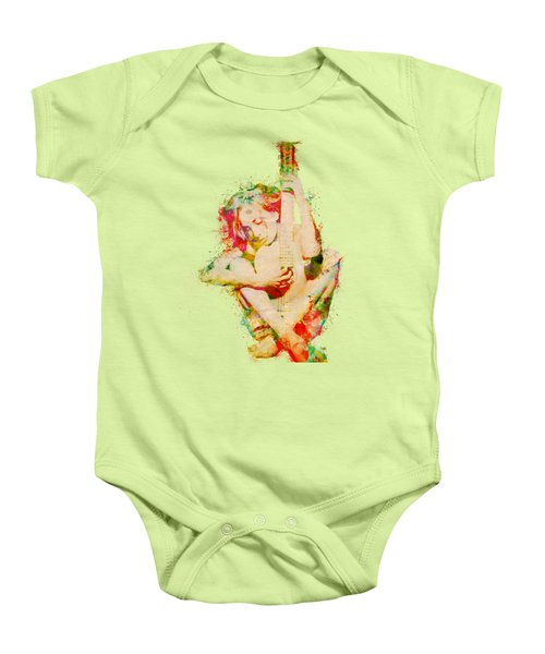 Guitar Lovers Embrace Baby Onesie by Nikki Smith