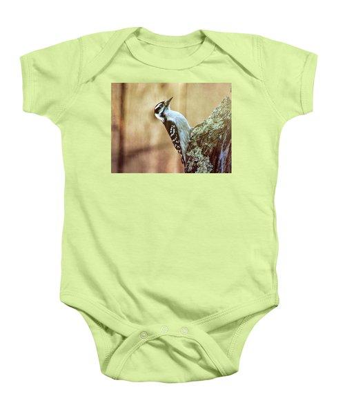 Hairy Woodpecker Baby Onesie