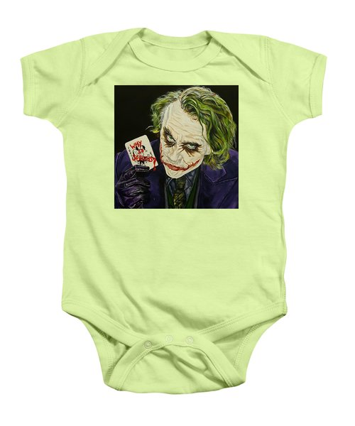 Heath Ledger The Joker Baby Onesie by David Peninger