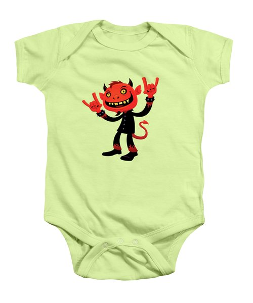 Heavy Metal Devil Baby Onesie by John Schwegel