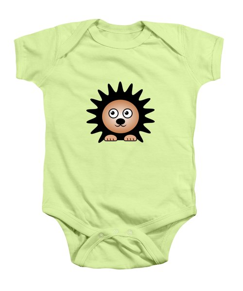 Hedgehog - Animals - Art For Kids Baby Onesie by Anastasiya Malakhova
