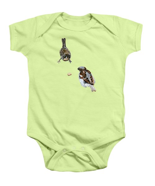 Hungry Sparrows Baby Onesie by Birgit Jentsch