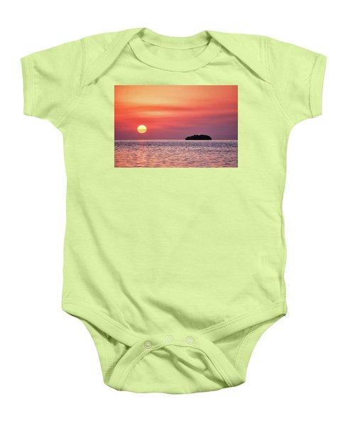 Island Sunset Baby Onesie