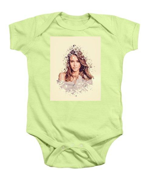 Jessica Alba Splatter Painting Baby Onesie