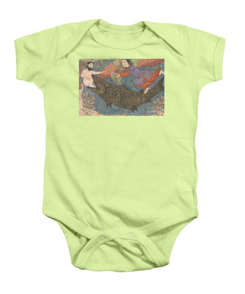 Jonah And The Whale Baby Onesie by Iranian School