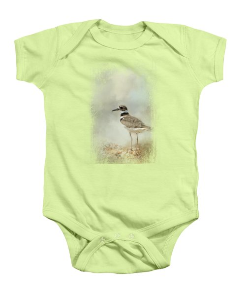 Killdeer On The Rocks Baby Onesie by Jai Johnson