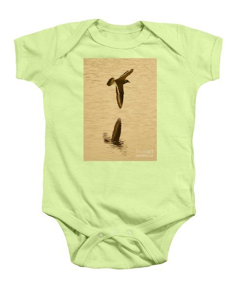 Killdeer Over The Pond Baby Onesie by Carol Groenen
