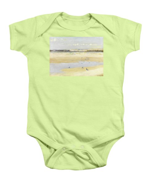 Lapwings By The Sea Baby Onesie by William James Laidlay