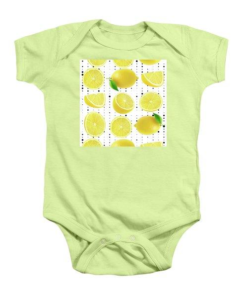 Lemon  Baby Onesie by Mark Ashkenazi