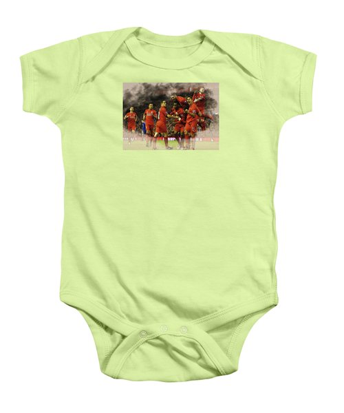 Liverpool V Leicester City Baby Onesie by Don Kuing