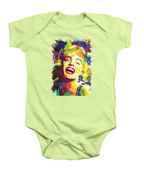 Marilyn Monroe Baby Onesie by Anthony Mwangi