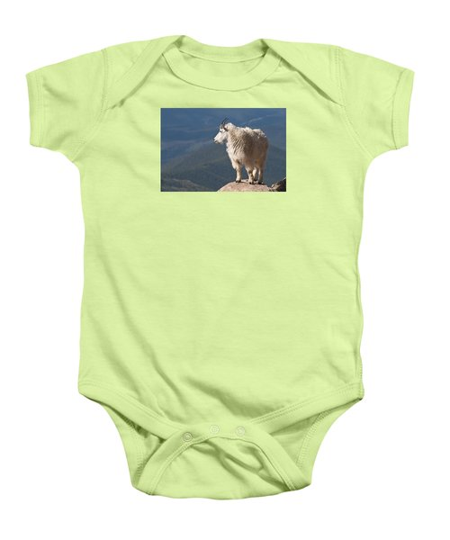 Baby Onesie featuring the photograph Mountain Goat by Gary Lengyel
