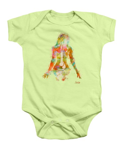 Music Was My First Love Baby Onesie by Nikki Marie Smith