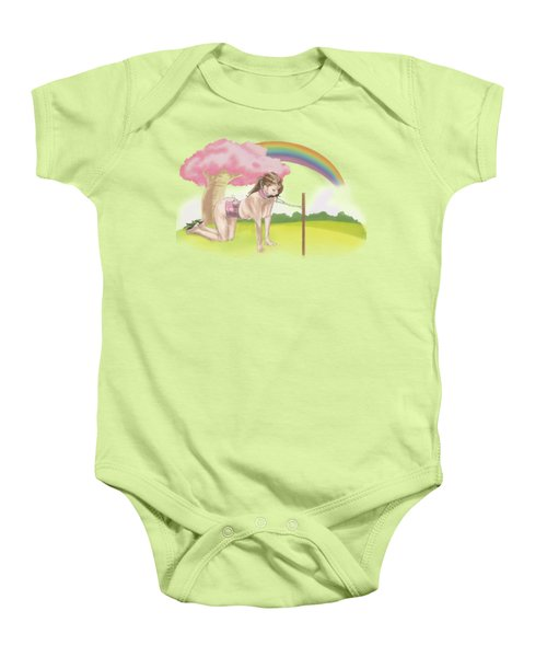 Baby Onesie featuring the mixed media My Little Pony by TortureLord Art