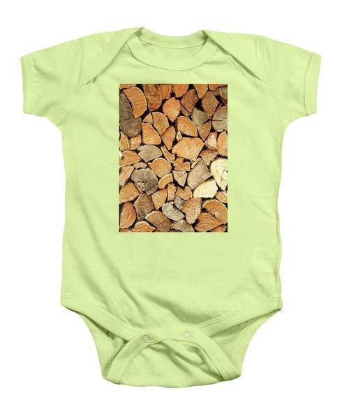 Natural Wood Baby Onesie