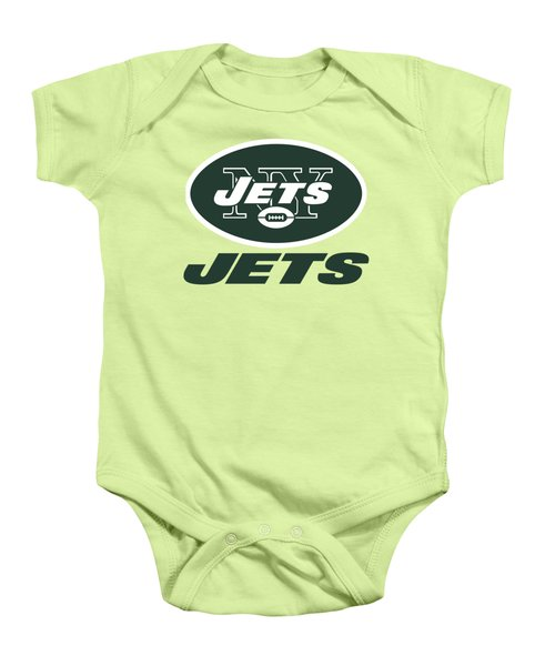 New York Jets Translucent Steel Baby Onesie