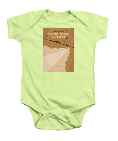 No293 My Fear And Loathing Las Vegas Minimal Movie Poster Baby Onesie by Chungkong Art