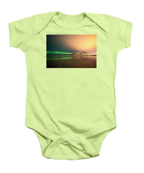 Northern Light In Lofoten Nordland 5 Baby Onesie