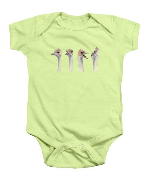 Drama Queen - Ostrich Painting Baby Onesie
