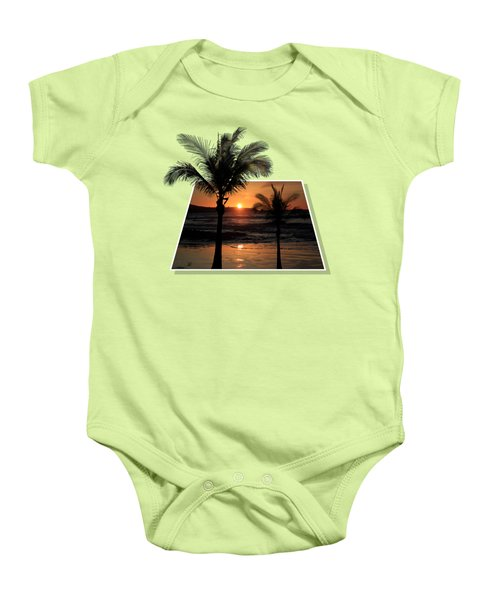 Palm Trees At Sunset Baby Onesie