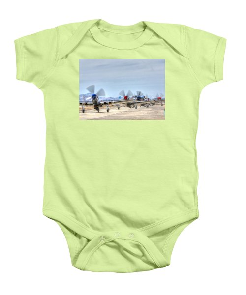 Parade Of Mustangs Baby Onesie