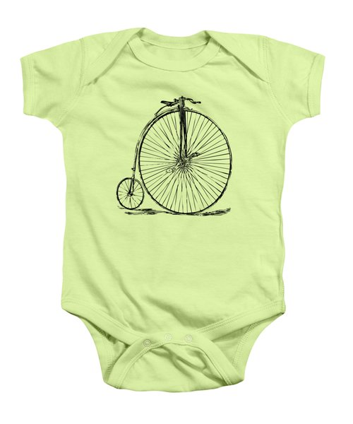 Penny-farthing 1867 High Wheeler Bicycle Vintage Baby Onesie by Nikki Marie Smith