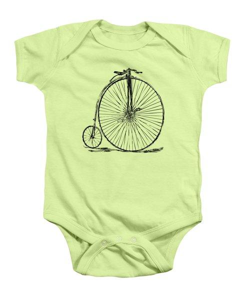 Penny-farthing 1867 High Wheeler Bicycle Vintage Baby Onesie