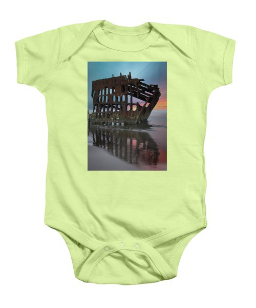 Peter Iredale Shipwreck At Sunrise Baby Onesie