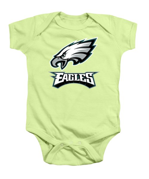 Philadelphia Eagles Translucent Steel Baby Onesie