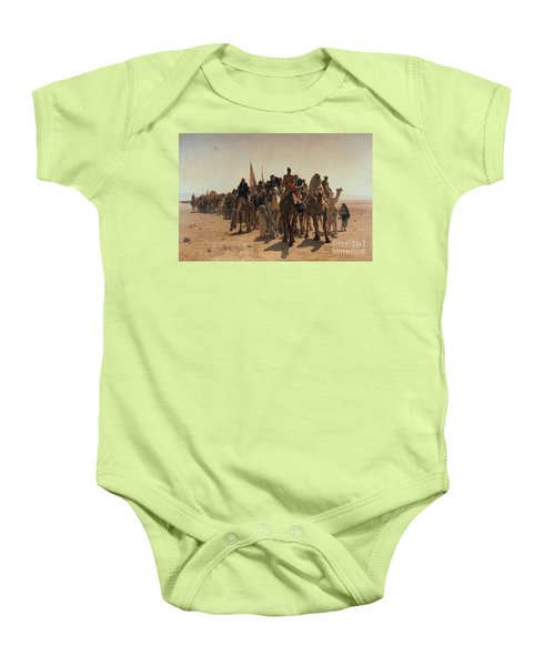 Pilgrims Going To Mecca Baby Onesie