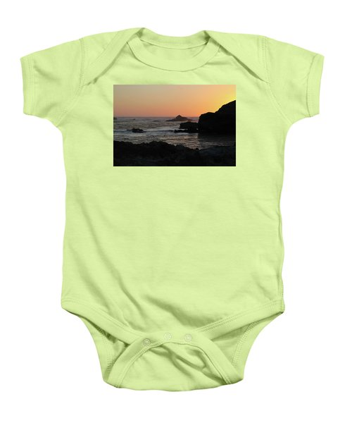 Point Lobos Sunset Baby Onesie by David Chandler
