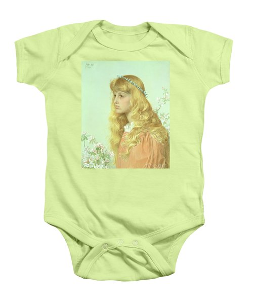 Portrait Of Miss Adele Donaldson, 1897 Baby Onesie by Anthony Frederick Augustus Sandys
