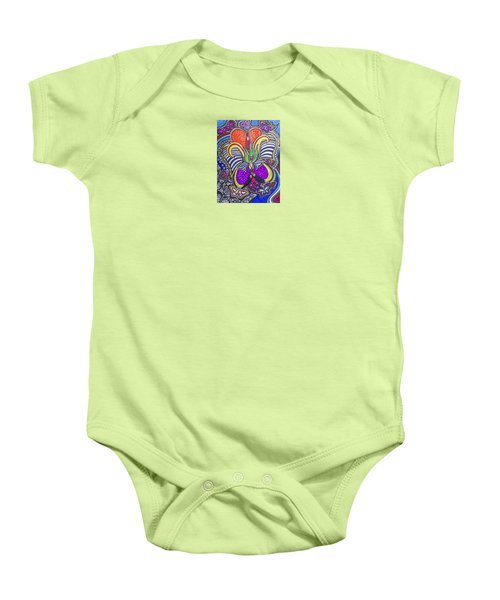 Purple Growth Baby Onesie