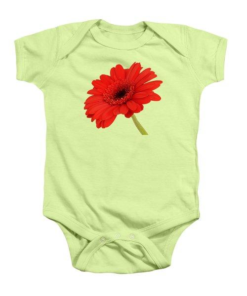 Red Gerbera Daisy 2 Baby Onesie