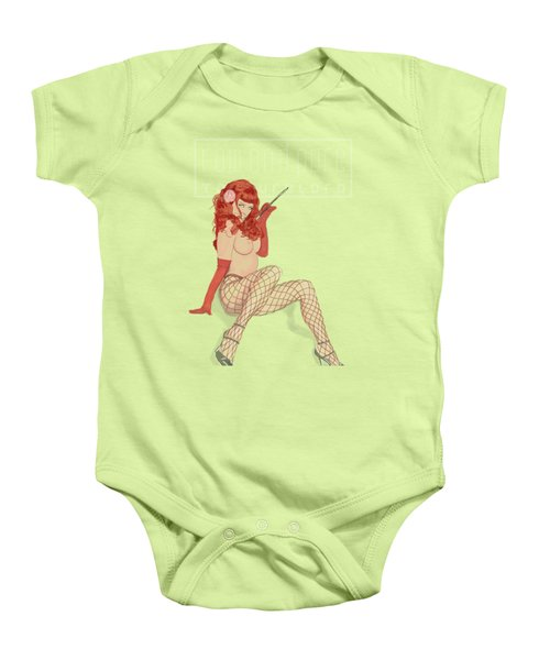 Baby Onesie featuring the mixed media Red by TortureLord Art