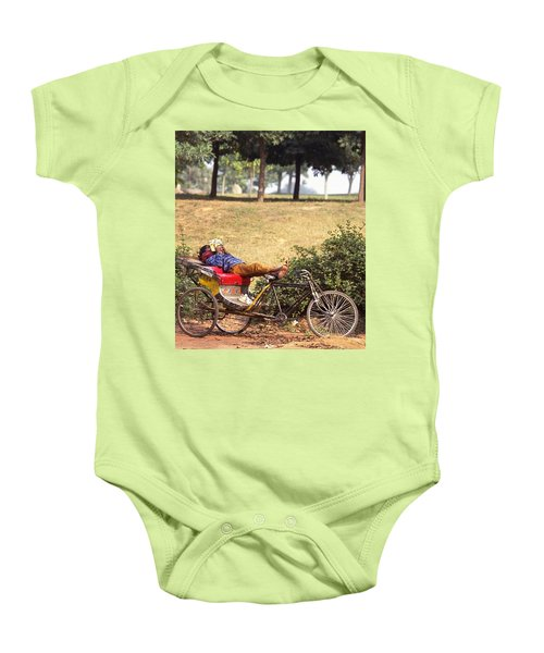 Rickshaw Rider Relaxing Baby Onesie by Travel Pics