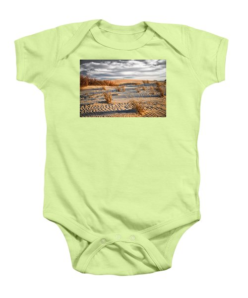 Sand Dune Wind Carvings Baby Onesie