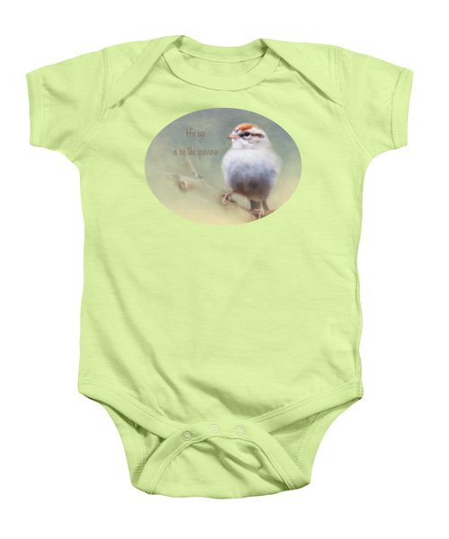 Serendipitous Sparrow - Quote Baby Onesie by Anita Faye
