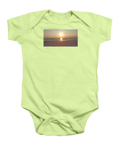 Shackleford Banks Sunset Baby Onesie by Betsy Knapp