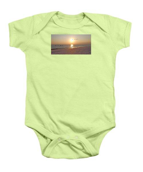 Shackleford Banks Sunset Baby Onesie