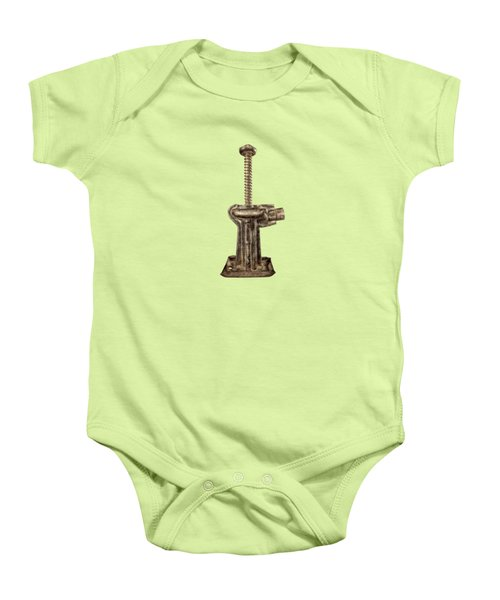 Short Enclosed Screw Jack I Baby Onesie