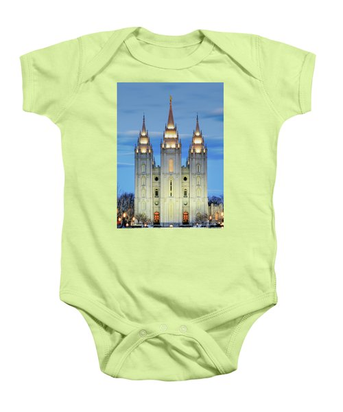 Slc Temple Blue Baby Onesie