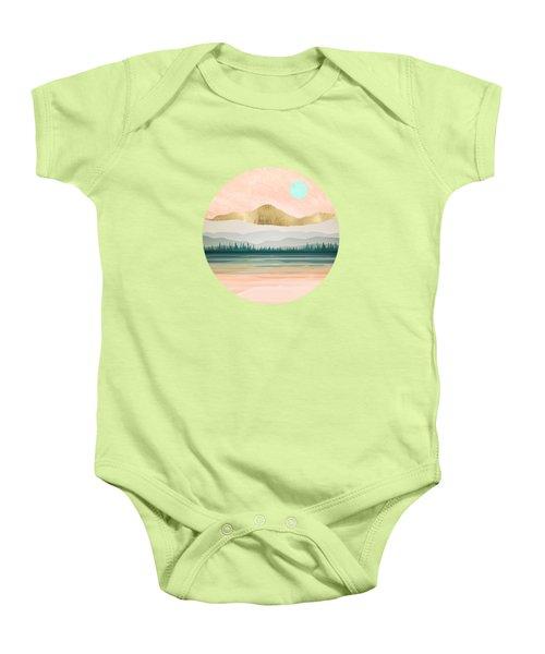 Spring Forest Lake Baby Onesie