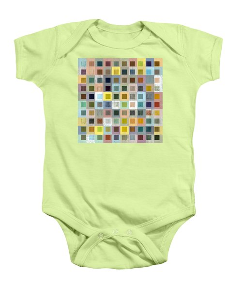 Baby Onesie featuring the digital art Squares In Squares Three by Michelle Calkins