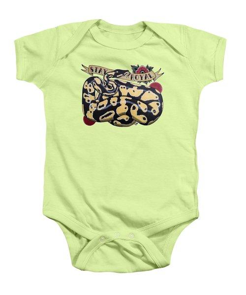Stay Royal Ball Python Baby Onesie by Donovan Winterberg