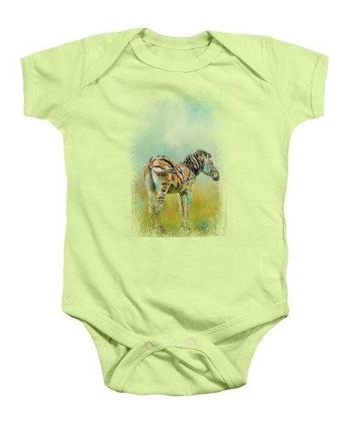 Summer Zebra 1 Baby Onesie