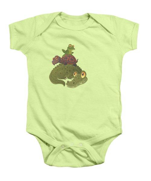 Swamp Squad Baby Onesie by John Schwegel