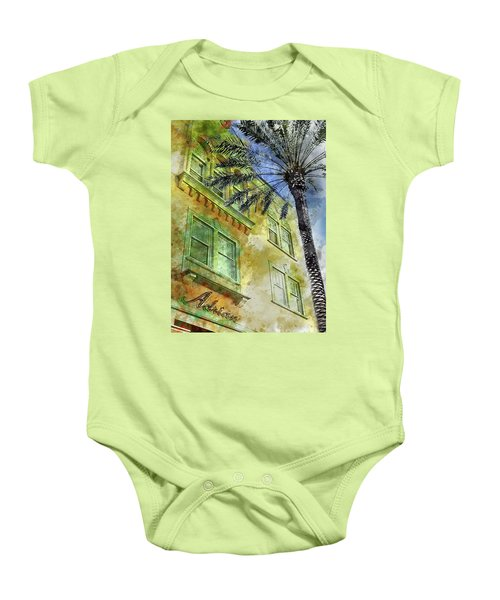The Adrian Hotel South Beach Baby Onesie by Jon Neidert